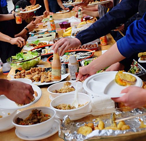 Teenagers party Millenials Teenagers  Party Party Time Potluck Plate Food Food And Drink Togetherness Buffet Teamwork Friendship Fusionfood Fusion Food EyeEm Diversity