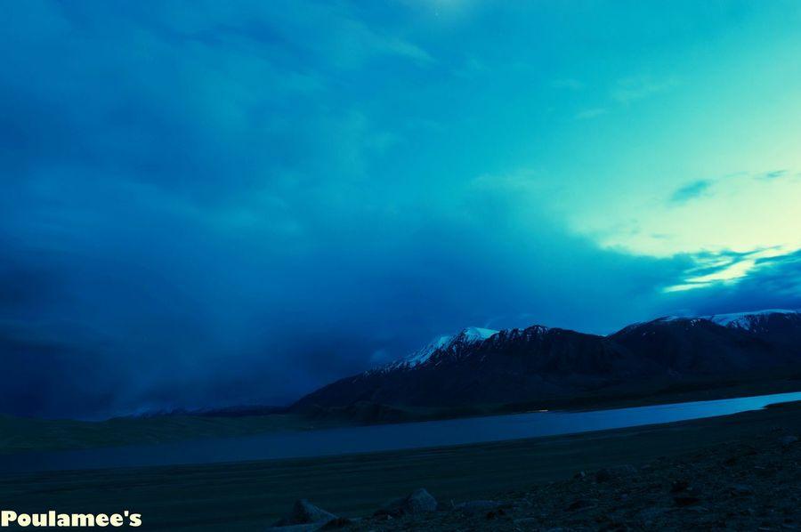Evening Sky Tsokar TsoMoriri The Great Himalayas Evening Photography Showcase: November The Week Of Eyeem Blue Natural Beauty Blue Sky Blue Lakes