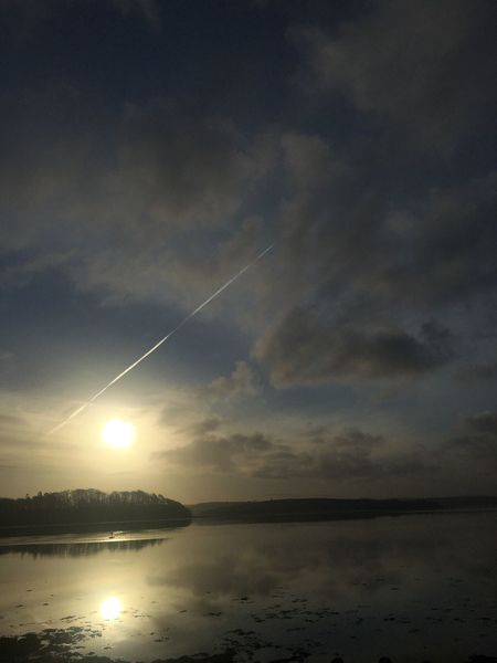 Donegal Bay flyover Ireland Donegal Vapor Trail Nature Sky Beauty In Nature Scenics Contrail Water