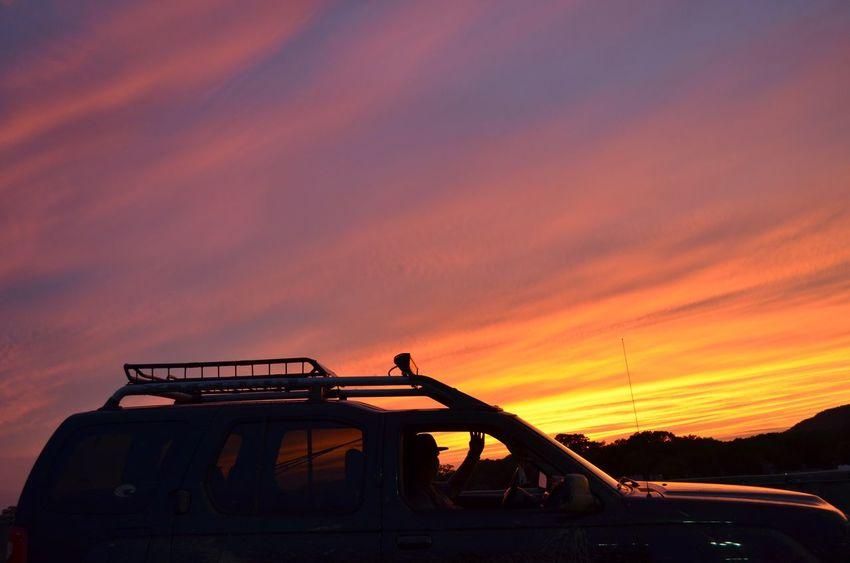 evening sunset Sunset Sky Outdoors Land Vehicle Transportation Mode Of Transport No People