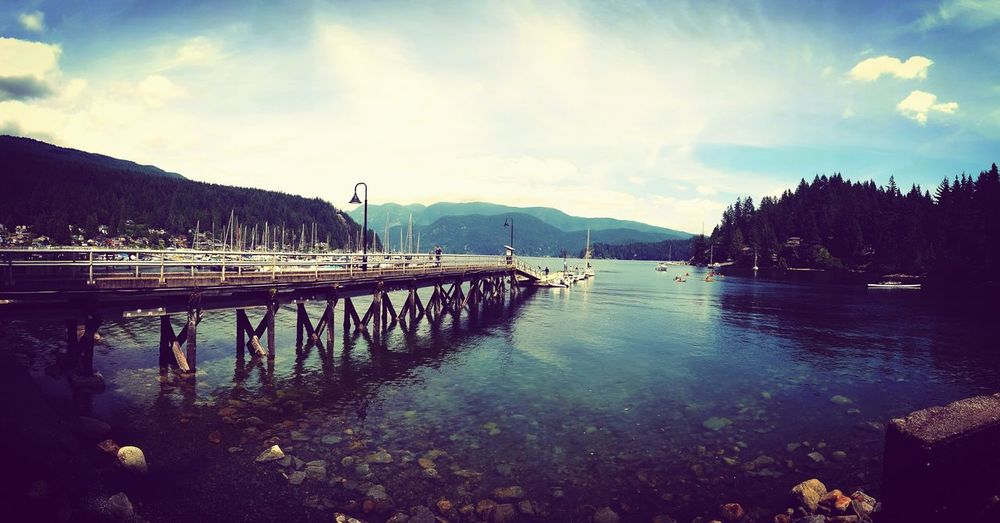 Hanging Out Taking Photos Check This Out Hello World Relaxing British Columbia Canada Deep Cove Fresh View Water Pier Marina