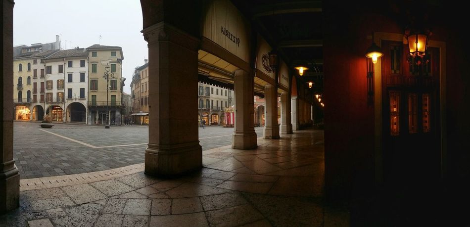 Showcase: February Treviso Italy Early Morning Walks Sunday Morning Mood Architecture Renaissance Buildings Monumental Arcades Arcade Alleys Pavement Textures Pattern Pieces Reflections And Shadows Soft Shades Red Walls Mobile Photography Art Fineart Panoramic Views Backlight Mobile Editing