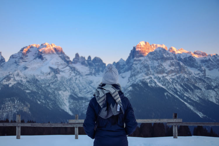 Back View Contemplation Determination EyeEm Ready   From Behind Tranquility Backview Beauty In Nature Cold Temperature Frozen Jacket Landscape Mountain Mountain Range Nature One Person Outdoors Scenics Snow Snowcapped Mountain Standing Staring Thoughtful Warm Clothing Winter