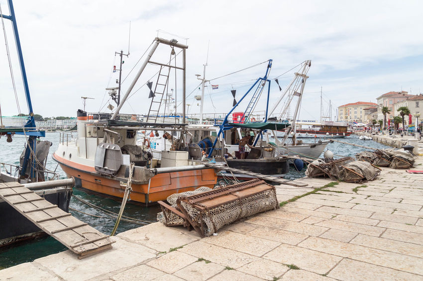 Poreč harbour... Croatia Fishing Boats Harbor Marina Porec, Croatia Poreč Marina Boat Boats Day Fish Fisherman Fishing Fishing Boat Harbor Mode Of Transport Moored Nautical Vessel Outdoors Porec Sea Sea And Sky Ships Sky Transportation Water