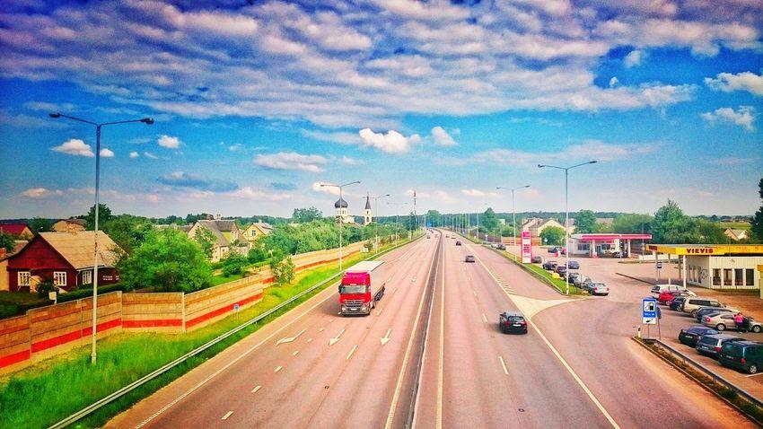 Eismas, nuo tilto Lithuania Autostrada Vievis Tiltas Cooming Home