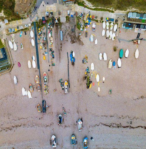 Habour Beach Ships Fishing Boat High Angle View Above Coast Sea Britain Beer Village England Sand No People Outdoors Nature Day Landscape Drone  Dronephotography Transportation Beach Life Holiday