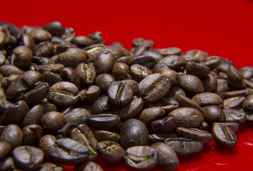 The Roasted Coffee Beans red background macro close up image for coffee background. Roasted Coffee Beans Coffee Beans Baker Coffee Beans Roasted Black Color Close-up Coffee Bean Coffee Beans Coffee Beans For Sale Coffee Beans Roaster Food Food And Drink Freshness Healthy Eating Indoors  Nature No People Red Roasted Roasted Coffee Roasted Coffee Bean