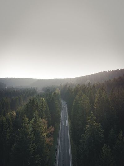 Ore Mountains Road EyeEm Selects EyeEmNewHere DJI Mavic Pro DJI X Eyeem Aerial Photography Aerial Shot Aerial View Plant Tree Sky Transportation Nature Beauty In Nature Road No People Scenics - Nature Environment Clear Sky Copy Space The Way Forward Land Motion Direction Growth Day Tranquility Non-urban Scene Summer Road Tripping