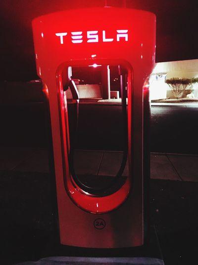 Tesla Arizona Electricity  Red No People Night
