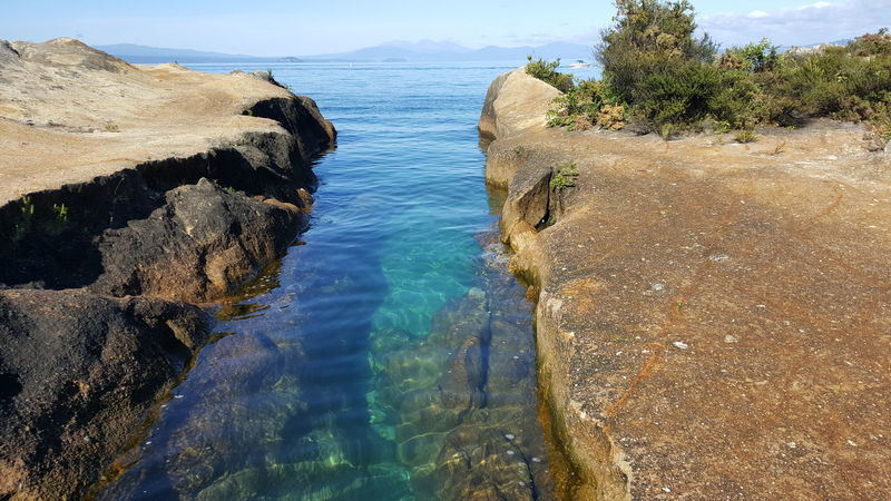 Blue Clear Water Day Lake Taupo New Zealand Outdoors Tranquil Scene Water
