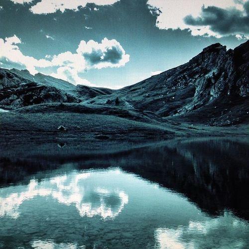 Clouds Reflections Italy Lightroom Iphonography Alps Lifeisbeautiful Dolomites LifeLessOrdinary Alpinelake Valparola
