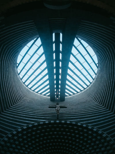 Abstract Architectural Feature Architecture Architecture And Art Built Structure Ceiling Circle Close-up Cupola Day Design Directly Below Full Frame Geometric Shape Indoors  Low Angle View Metal No People Pattern San Giovanni Battista Shape Skylight Technology Textured