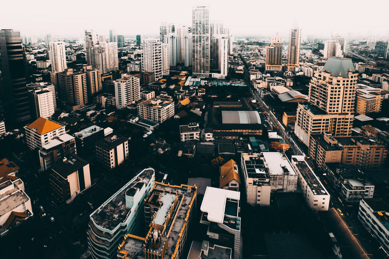 Bangkok Thailand. Building Exterior City Cityscape Built Structure Architecture Building Office Building Exterior Crowded Residential District Tall - High High Angle View Crowd Skyscraper Modern Office Day Tower Nature Urban Skyline Outdoors Financial District  Settlement Apartment