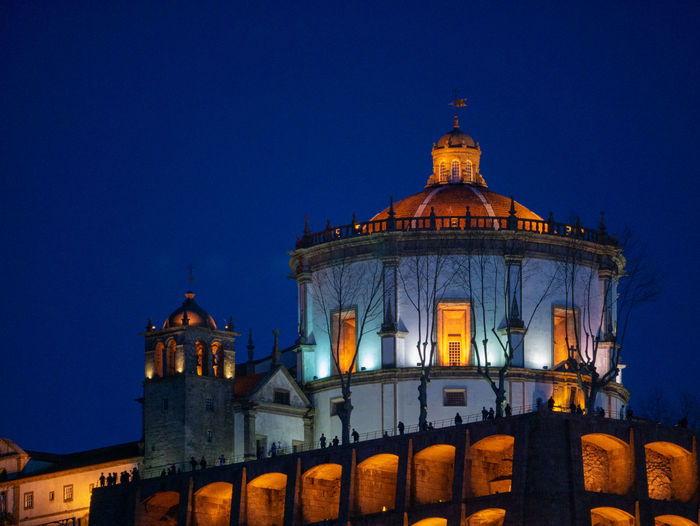 Building Exterior Architecture Built Structure Sky Night Illuminated Building History Clear Sky The Past Travel Destinations Dome Place Of Worship Nature Religion Blue Dusk Tourism Travel No People
