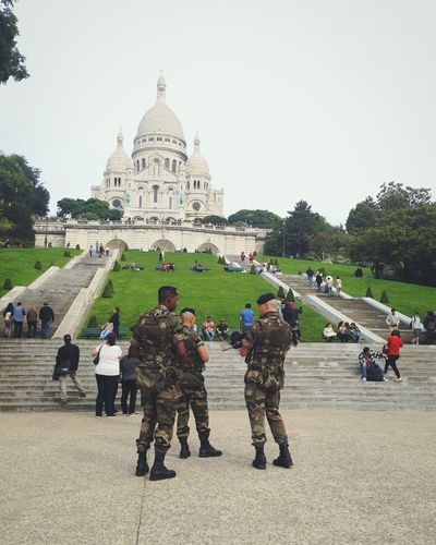 My morning walk near Sacre Coeur ... Paris Military Cityscapes Dramatic Angles