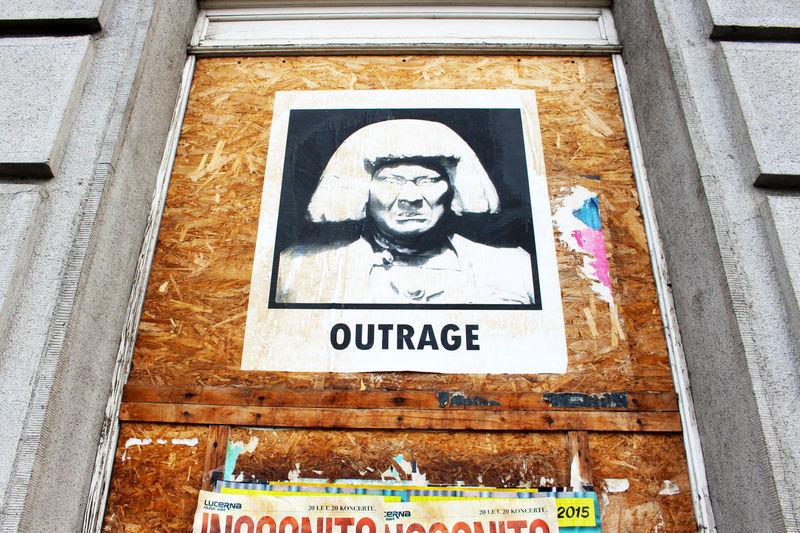 Anger Czech Republic Emotions Outdoors Outrigger Canoe Poster Prague Streetart Streetphotography Text