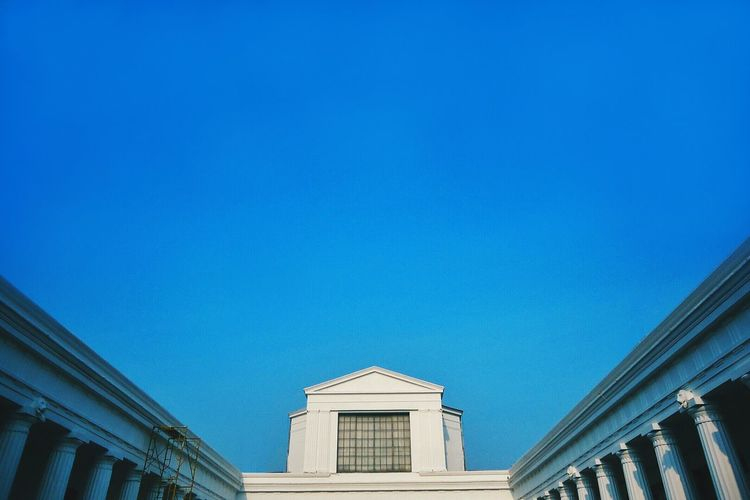 National Museum Against Clear Blue Sky
