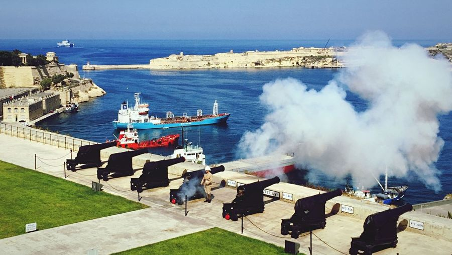 Upper Barakka Gardens, Valetta, Malta. Malta Sea Summer Mediterranean  Valetta Artillery Salutingbattery Smoke Historical Site Capture The Moment