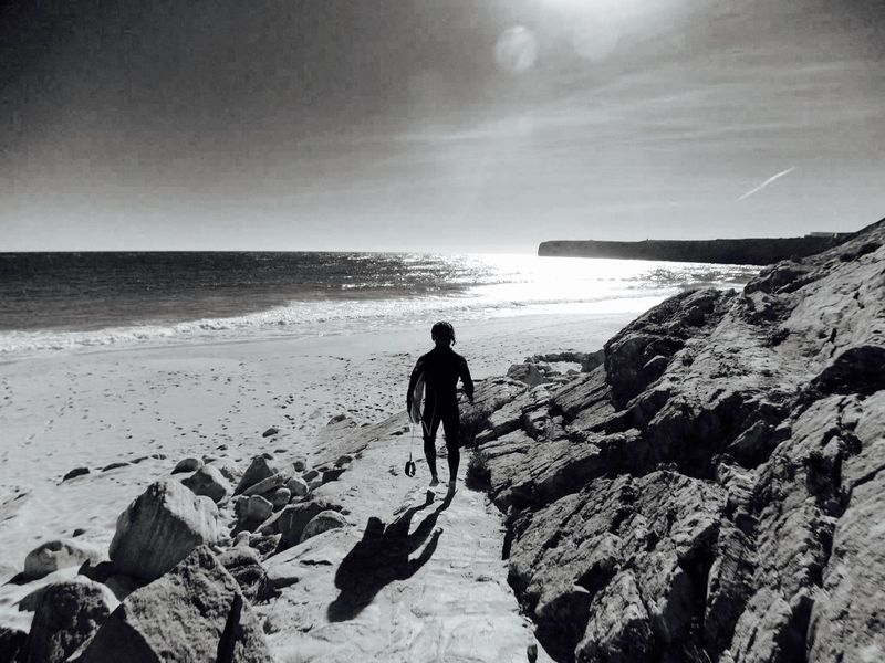 Blackandwhite Black & White Black And White Outside Making Pictures Ocean Surf Surfing Sport Telling Stories Differently Trying New Things Land And Sea Nopeople Outdoors Rocks Sea Shadow The Potraitist - 2016 EyeEm Awards People Of The Oceans