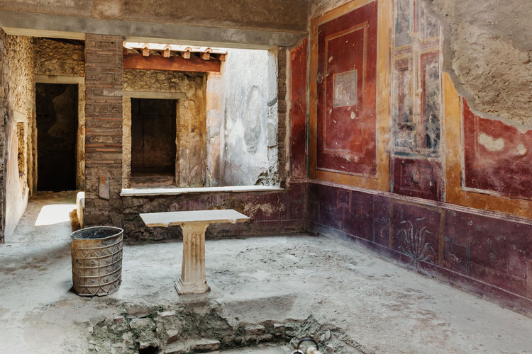 Pompeii  Pompeii Ruins Italy Architecture Indoors  Window Built Structure No People Domestic Room Abandoned Home Old Domestic Bathroom Bathroom Flooring House Building Wall - Building Feature Absence Home Interior Day Wall