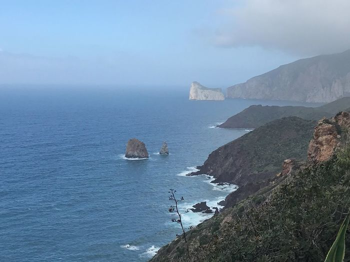 Pan di Zucchero, Sardegna Water Sea Rock Beauty In Nature Rock - Object Sky Scenics - Nature Nature Tranquility No People Cloud - Sky Horizon Over Water Beach Outdoors Mountain