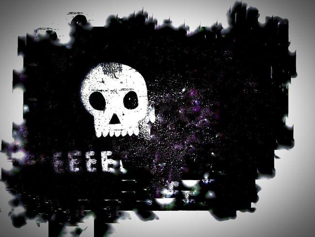 Eeee Skull Jagged Burntout Grungy Creativity Art