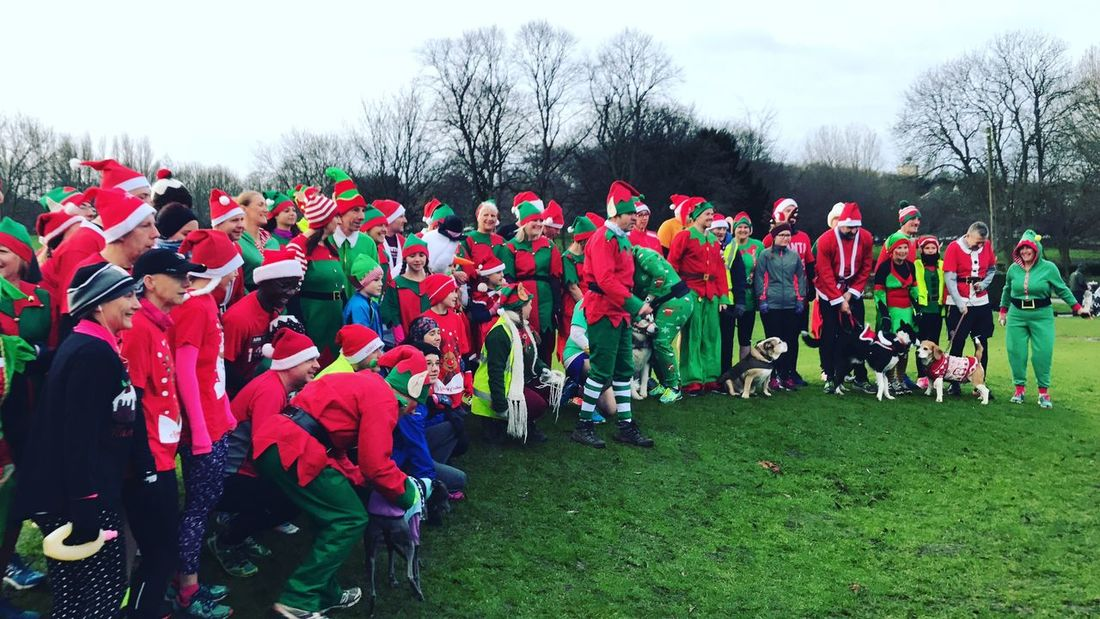 Large Group Of People Real People Outdoors Day Tree Sky Men Women Crowd Nature Pontefract Parkrun Parkrun