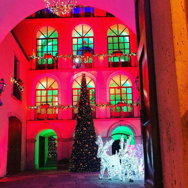 Building Exterior Architecture Built Structure Christmas Multi Colored Outdoors No People