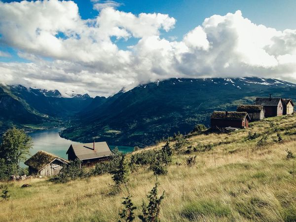 Above the fjord... Cloud - Sky Sky Mountain Outdoors Mountain Range No People Nature Beauty In Nature Day Travel Photography Travel Norway Scandinavia Norvegian Fjord Fjordsofnorway Beautifullandscape Landscape Travelphotography Landscape Photography Klaquax_Norway