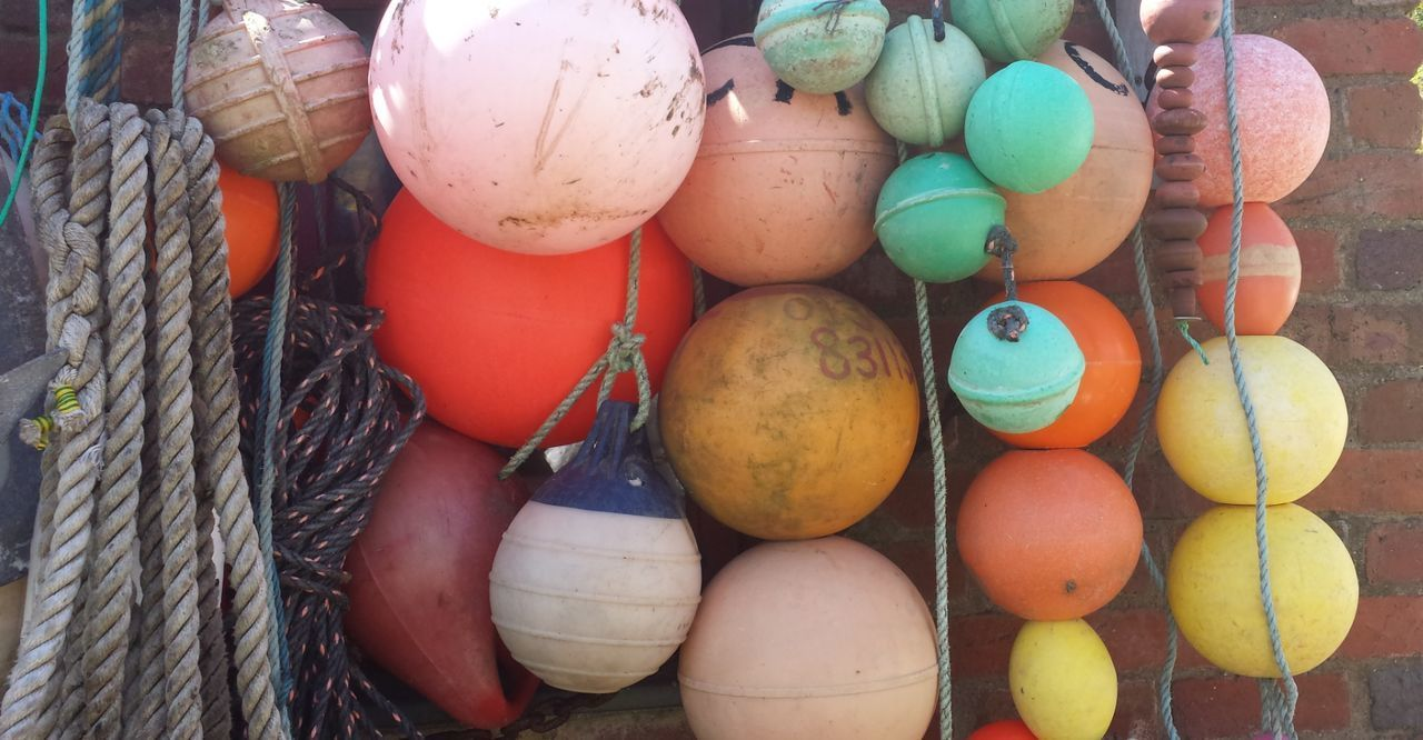 Buoys Large Group Of Objects Multi Colored Colours Coast Life West Wales