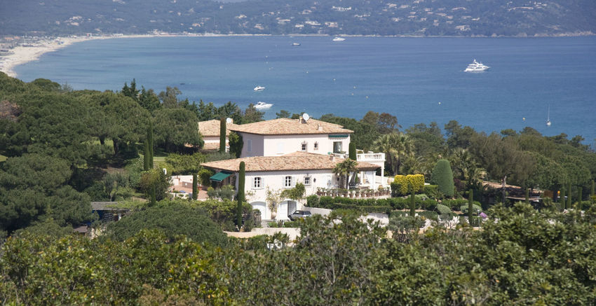 villa over the gulf of Saint-Tropez - wealth on the french riviera Architecture Beach Building Building Exterior Côte D'Azur France French Gulf Of Saint-tropez High Angle View Home House Luxury Mansion Mediterranean Sea Panorama Provence Residential Building Saint Tropez Saint-Tropez Sea Tourist Resort Tradition Traditional Travel Destinations Villa