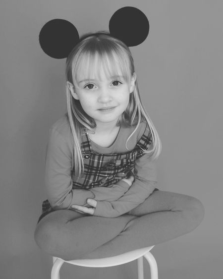 Looking At Camera One Person Three Quarter Length Portrait Studio Shot Childhood Front View Lifestyles Real People Leisure Activity Indoors  Day