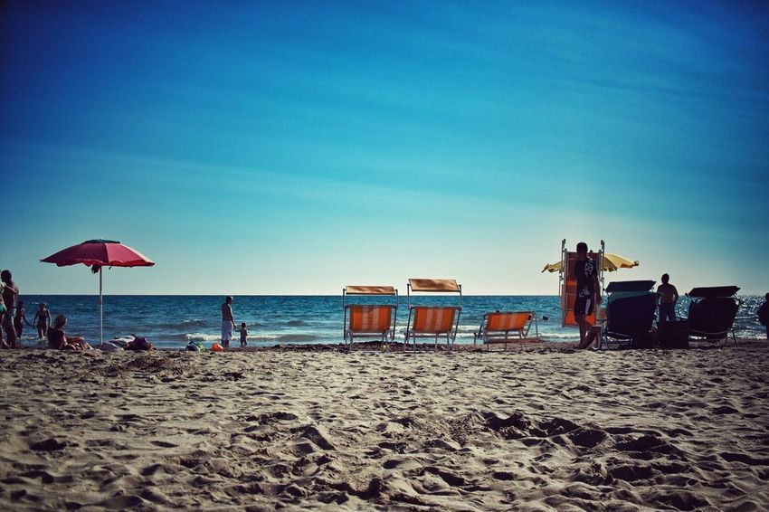 Beach Beach Sand Sky Sea Real People Vacations Nature Lifestyles Leisure Activity Water Horizon Over Water Landscape Italy Santa Severa Day Scenics
