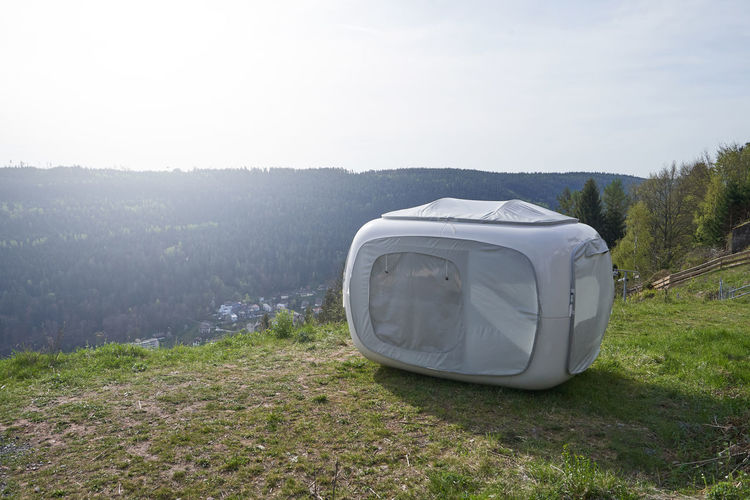 Unusual tent in
