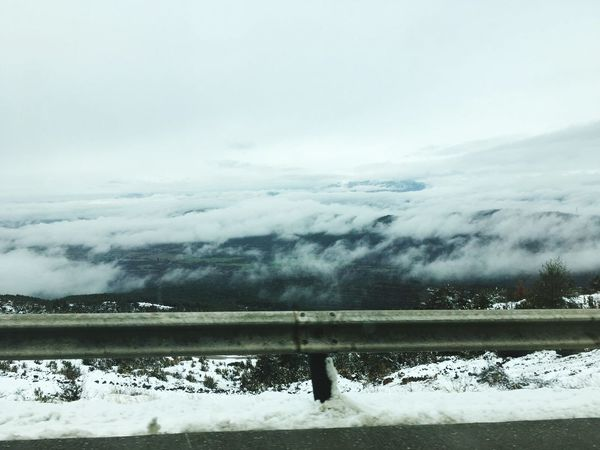 Snow Cold Temperature Frozen Winter Landscape Nature Outdoors No People Winter Sport Beauty In Nature Roadtrip Winter 2017 SPAIN Mountain Nature Beauty In Nature Winter Sky Freedome  Clouds Snow