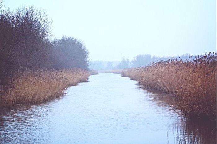 River Taking Photos Fog