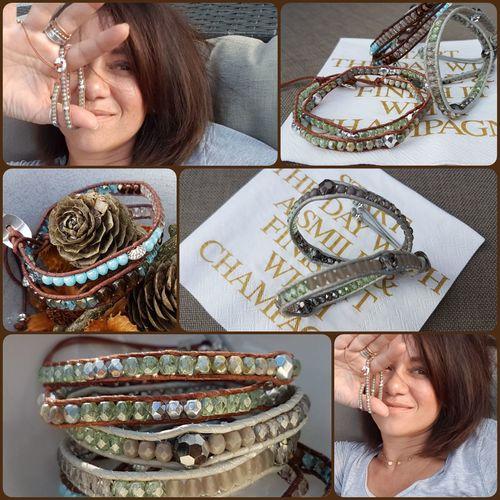 my work 💙💙💙 Bracelet Bracelet ♥ Love Beatiful EyeEm EyeEm Best Shots EyeEmNewHere Business Women Smiling Headshot Portrait Occupation Businesswoman Jewelry Store Jewelry For Sale Jeweller Pearl Jewelry