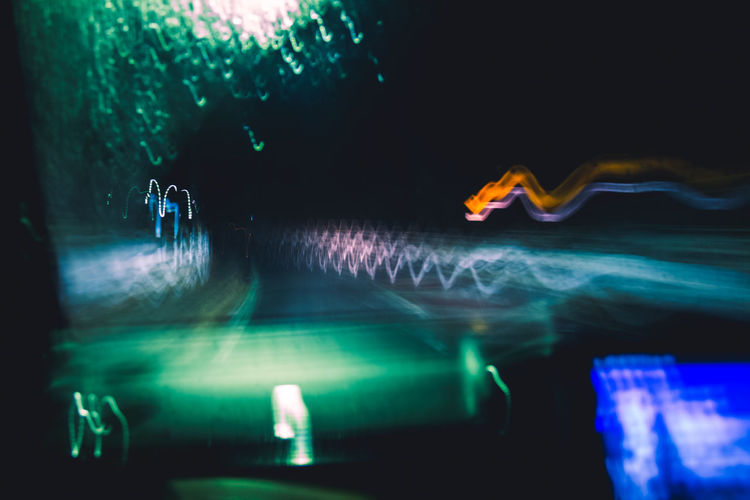 Technology Tech Rain Drive Driving Night Night Lights Neon Dark Lights The Glitch Abstract POV Algorithm Analytics Speed Revolution Through The Window Light And Shadow Raindrops Reflection Rainy Days Green Color Humanity Meets Technology My Best Photo Illuminated Road Road Trip Water Motion No People Glowing Multi Colored Nature Sea Long Exposure Indoors  Lighting Equipment Blurred Motion Underwater Pattern Close-up Waterfront Light Swimming Pool Nightlife Blur