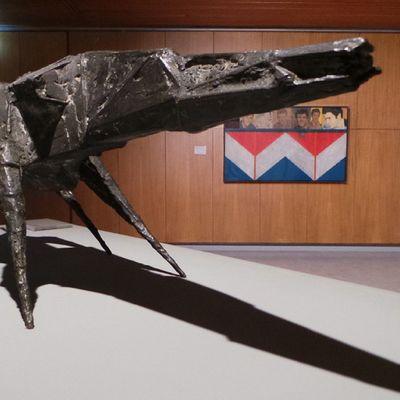 'Beast XXI' (1959) by Lynn Chadwick. Art Igersmcr Deadgoodwhitworth Museum instameet