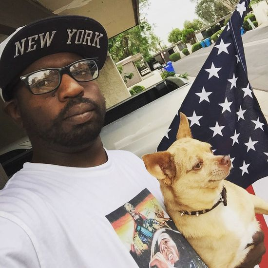 America Merica AmeriKKKaSoaking Up The Sun Phoenix Woodlawn  Chihuahua Dopple Heathen