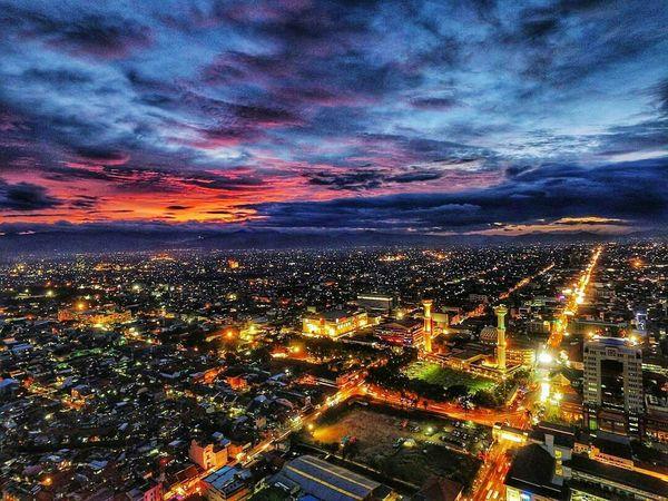 Cityview @alunalunbandung Cityscape City Night Urban Skyline Architecture Bandungexplore Bandungbanget Bandung, Indonesia