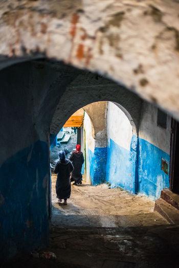 Epoca Bereber Woman Morocco Islam Burka  Zoco Tetuan Marruecos Azul Water Window Close-up Arch Archway Passage Historic Passageway