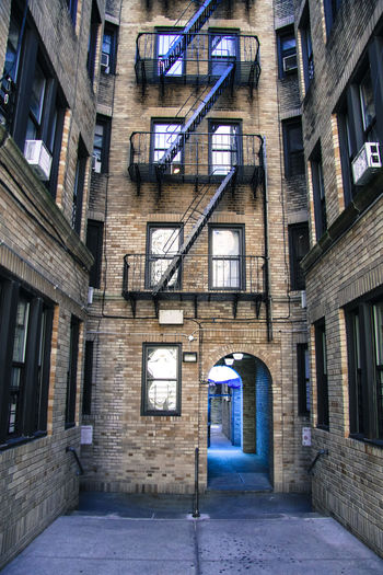 New York Architecture Built Structure Building Building Exterior Window No People City Entrance Day Residential District Arch Outdoors Direction Door Illuminated House The Past History Street Alley