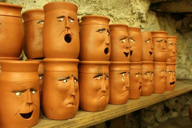 Faces.... :-D Faces Art Handmade Smile Tonfiguren Clay Clay Work Turkey Capadoccia