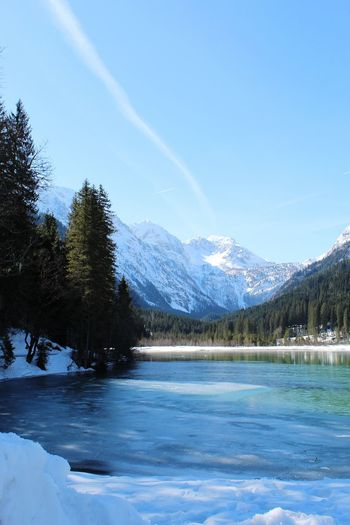 Nature_collection Landscape Horizon Beauty Outdoors Snowcapped Mountain Nature White Canon Backgrounds Blue Wood Tree Mountain Snow Water Cold Temperature Winter Forest Spruce Tree Lake Clear Sky Pine Woodland Frost Deep Snow Powder Snow Frozen Water Frozen Lake