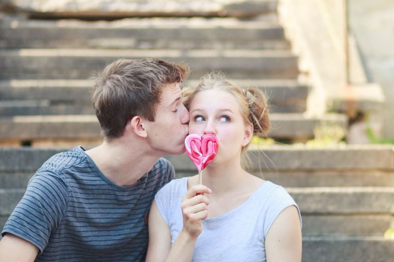 Sweets Candy Sweet Sweet Food Child Love Portrait Headshot Childhood Ice Cream Frozen Food Emotion Two People Casual Clothing Frozen Food And Drink Dessert Positive Emotion Holding Men Girls Valentine's Day - Holiday A New Beginning