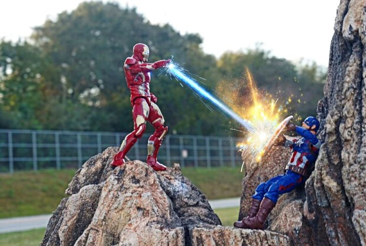 Civil War Marvel Legends Capt America Ironman Civilwar Marvellegends Ironman Captain America Toy Photography