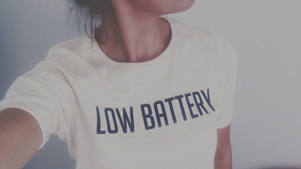 Low Battery Mood Working Hard Stress