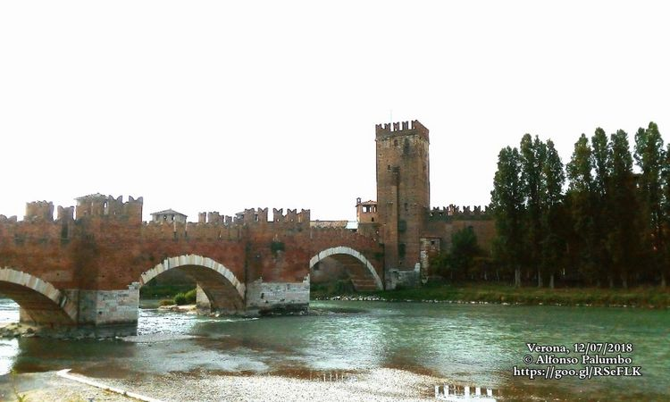 Verona, Castelvecchio Italy Verona Castelvecchio Verona Tourism Atraction Tree City Water Watermill Bridge - Man Made Structure River History Business Finance And Industry Sky Architecture Covered Bridge