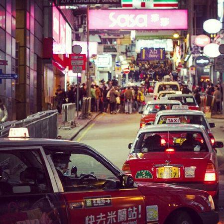 HongKong LKF Taxi Streetphotography